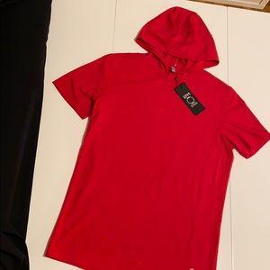 EFM Menswear NWT Short Sleeve Hooded Tee